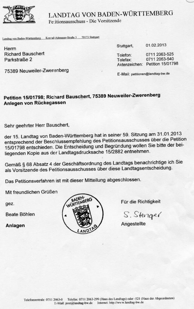 2013-02-13 - 2tes Antwortschreiben auf die Petition