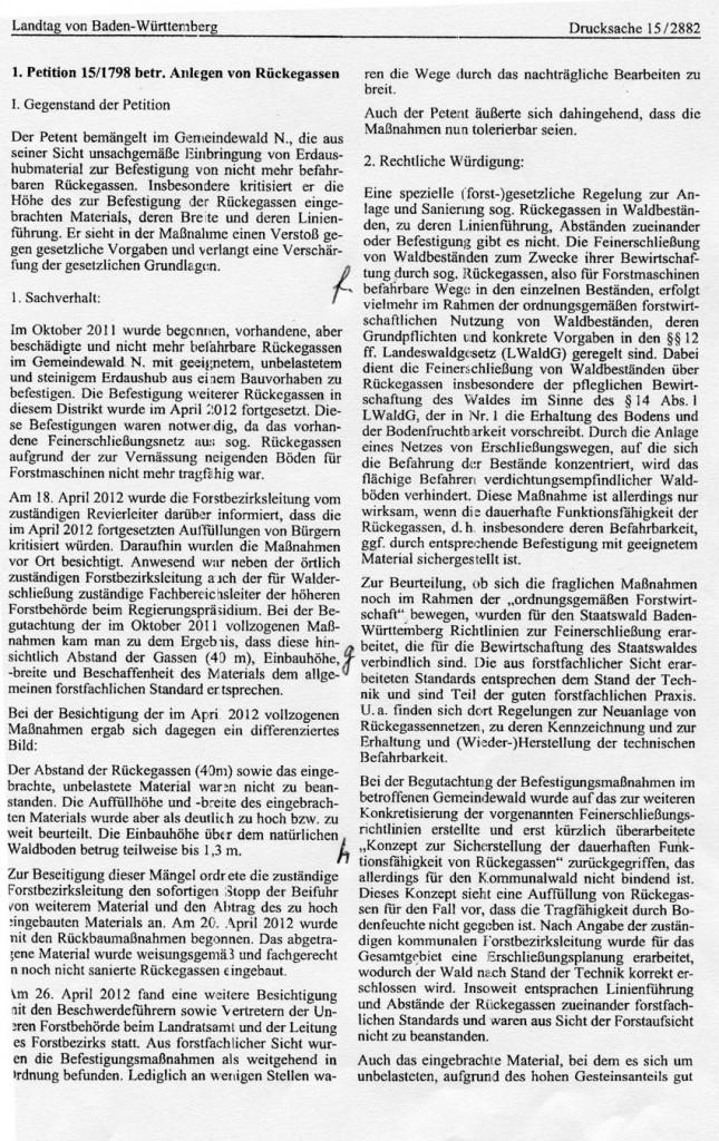 2013-05-13 Antwort Petitionsausschuss auf die Petition Blatt 1
